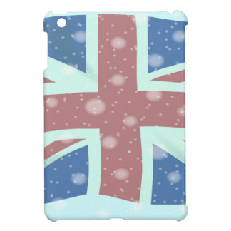 Union Jack Flag Snowflakes iPad Mini Cases