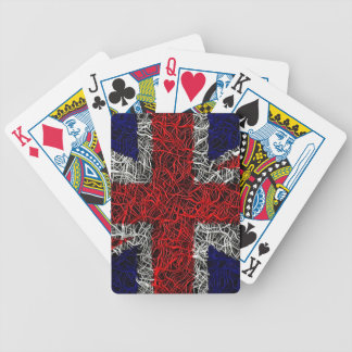 Union jack flag uk patriotic bicycle playing cards
