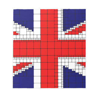 Union jack flag uk patriotic notepad
