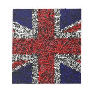 Union jack flag uk patriotic notepad
