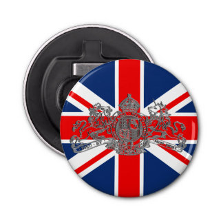 Union Jack Gold Dieu Mon Droit British Coat o Arms