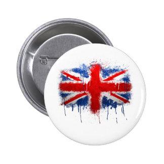 Union Jack Graffiti 6 Cm Round Badge
