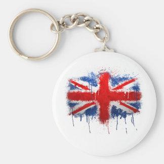 Union Jack Graffiti Key Ring
