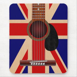 Union Jack Guitar Mouse Pad