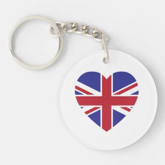 Union Jack Heart Acrylic Keychain