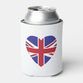 Union Jack Heart Can Cooler
