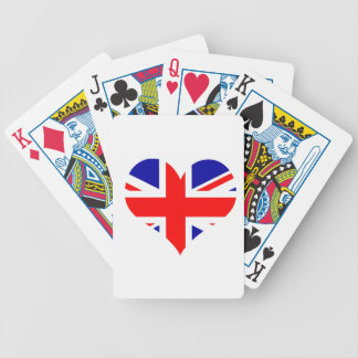 Union Jack Heart Flag Bicycle Playing Cards
