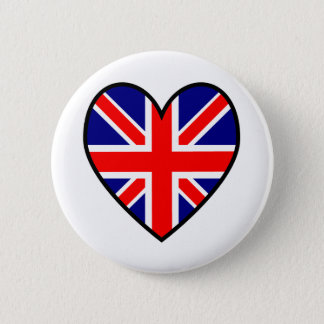 Union Jack Heart Flag Button