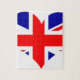 Union Jack Heart Flag Jigsaw Puzzle