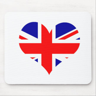 Union Jack Heart Flag Mouse Pad