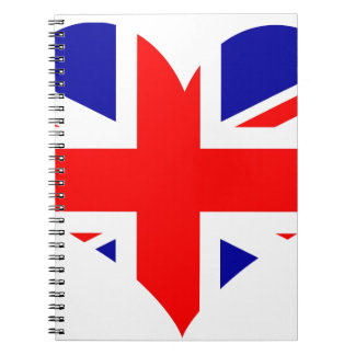 Union Jack Heart Flag Notebook