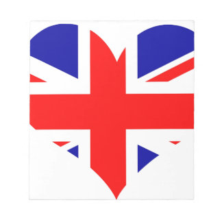 Union Jack Heart Flag Notepad