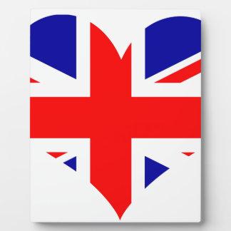 Union Jack Heart Flag Plaque