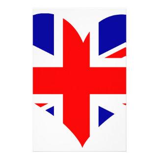Union Jack Heart Flag Stationery