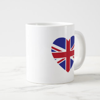 Union Jack Heart Jumbo Coffee Mug