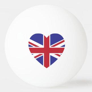 Union Jack Heart Ping Pong Ball