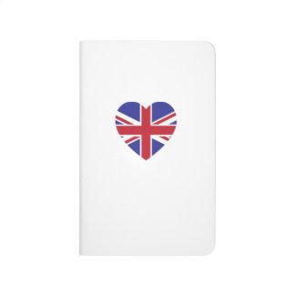 Union Jack Heart Pocket Journal
