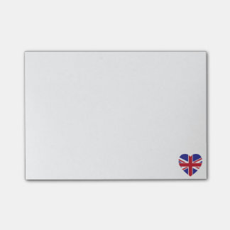 Union Jack Heart Post-it Notes