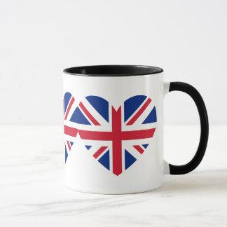Union Jack Heart Shape Mug