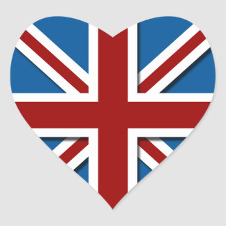 Union Jack Heart Sticker