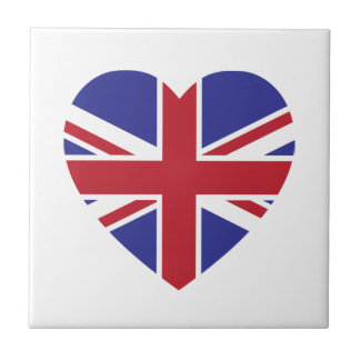 Union Jack Heart Tile