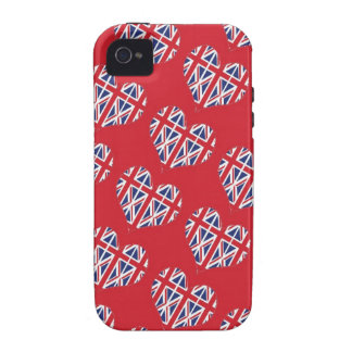 Union Jack Hearts iPhone 4 (s) Case iPhone 4/4S Cases