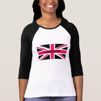 Union Jack ~ Hot Pink Black and White T-Shirt