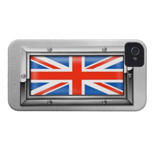 Union Jack in a Steel Frame Blackberry Case
