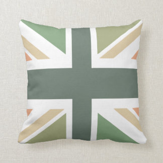 Union Jack - In Designer Pea Soup Cushion