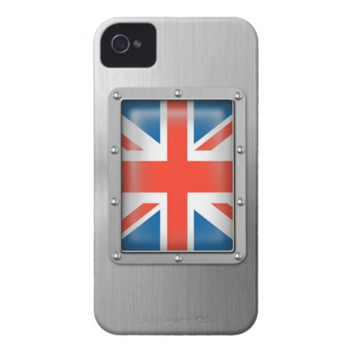 Union Jack in Stainless Steel Blackberry Bold Cover