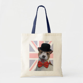 Union Jack Jack Russell Budget Tote Bag