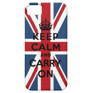 Union Jack Keep Calm And Carry On Case For The iPhone 5