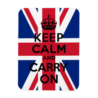 Union Jack Keep Calm and Carry On Magnet
