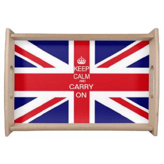Union Jack Keep Calm customise it Serving Tray