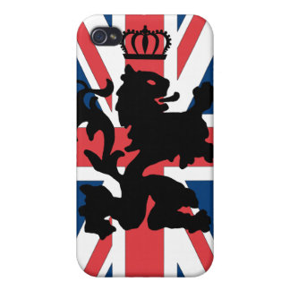 Union Jack Lion Crown Covers For iPhone 4