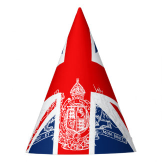 Union Jack Lion Unicorn British Flag Coat of Arms Party Hat