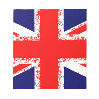 Union jack london flag uk notepad