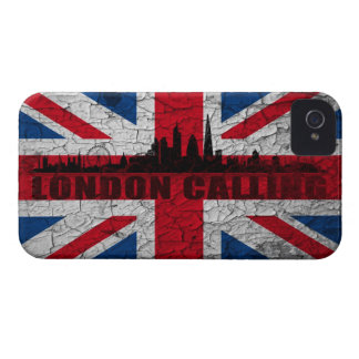 Union Jack London skyline Blackberry covering iPhone 4 Case-Mate Case