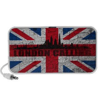 Union Jack London Skyline Doodle Lautsprecher Laptop Speakers