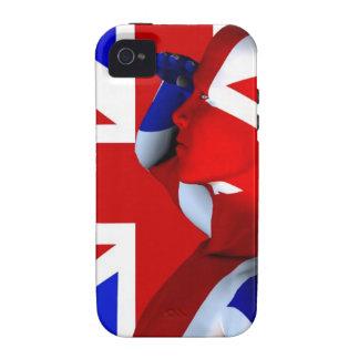 Union Jack Man iPhone 4/4S Case