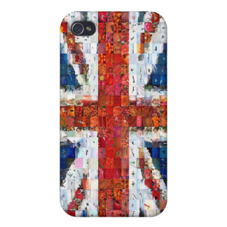 Union Jack Montage Cases For iPhone 4
