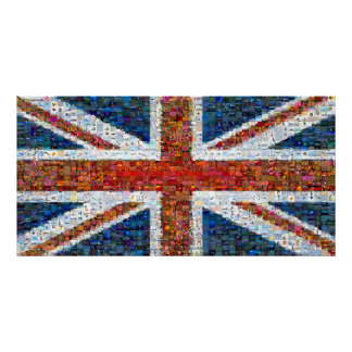 Union Jack Montage - Large Poster
