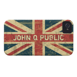 Union Jack Name Template Case-Mate iPhone 4 Case