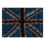 Union Jack of Paperclips Poster