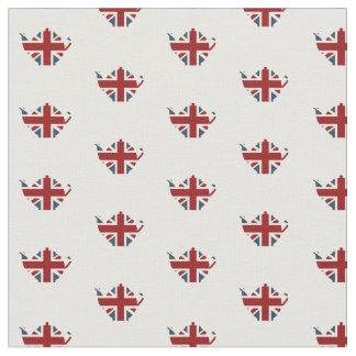 Union Jack Patriotic English Tea Kettle Fabric