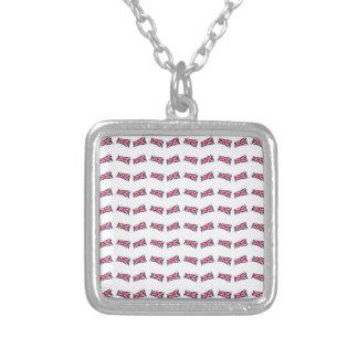 Union Jack Pattern Silver Plated Necklace