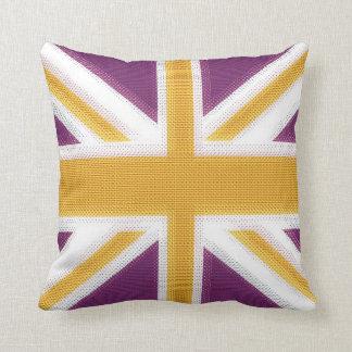 Union Jack Purple Cushion