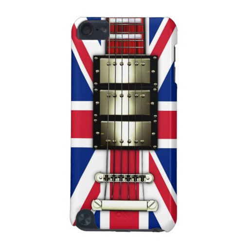Union Jack Retro Electric Guitar #1A iPod Touch 5G Covers