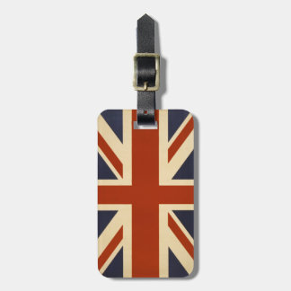 Union Jack Retro Luggage Tag