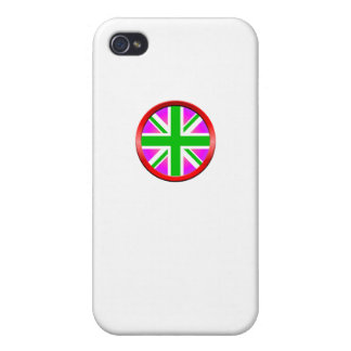 Union Jack Ring Purple And Green iPhone 4/4S Cover